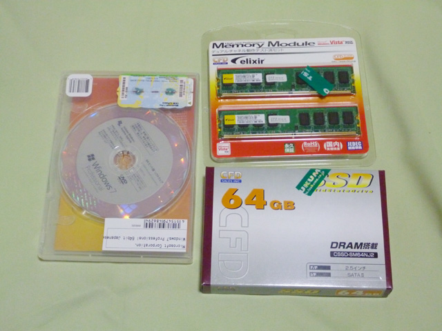 Windows7、CSSD-SM64NJ2、DDR2 PC2-6400 CL5