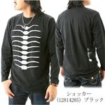 ショッカースカルTシャツ 12814285 ブラック M