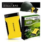 【イエロー】 SiliconPower ポータブル・ハードディスク・ドライブ 250GB Armor A10