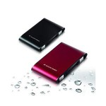 【レッド】 ポータブルハードディスクドライブ レッド  640GB